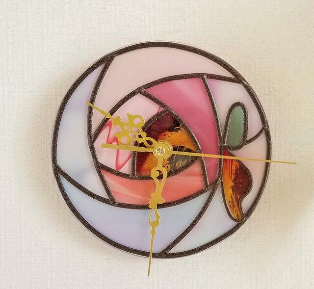 リバーシブル アクリル掛け時計『フェアリーローズ』の画像1枚目