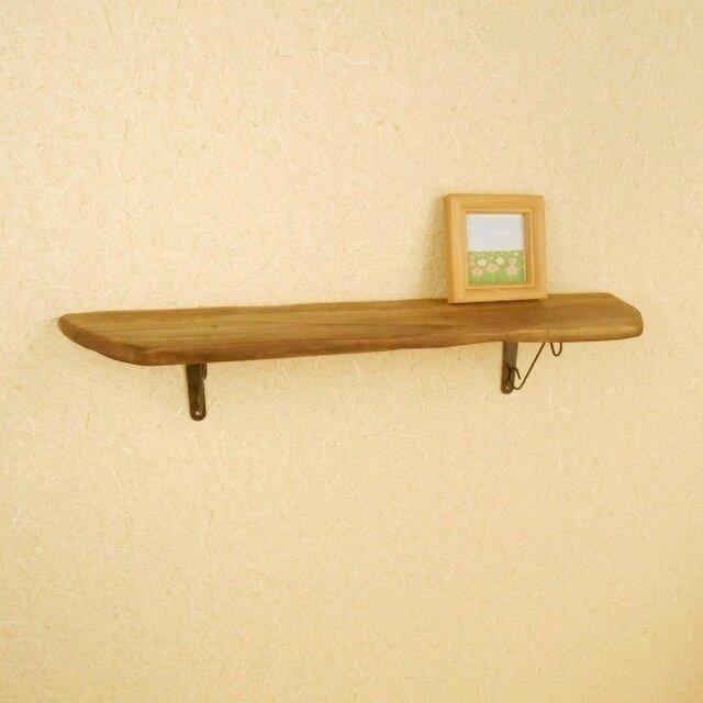 【温泉流木】台形のおしゃれウォールラック 壁掛け棚 流木インテリアの画像1枚目
