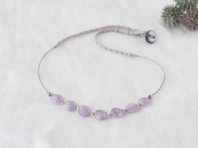 Lavender Short Necklaceの画像1枚目