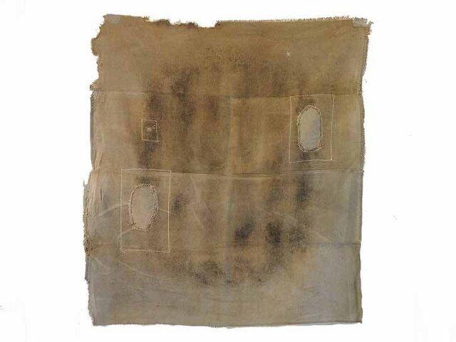 s0016古布・古裂 あめ色になった酒袋☆しっかりした木綿☆の画像1枚目