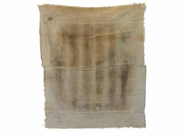 s0022 古布・古裂 あめ色になった酒袋☆しっかりした木綿☆の画像1枚目