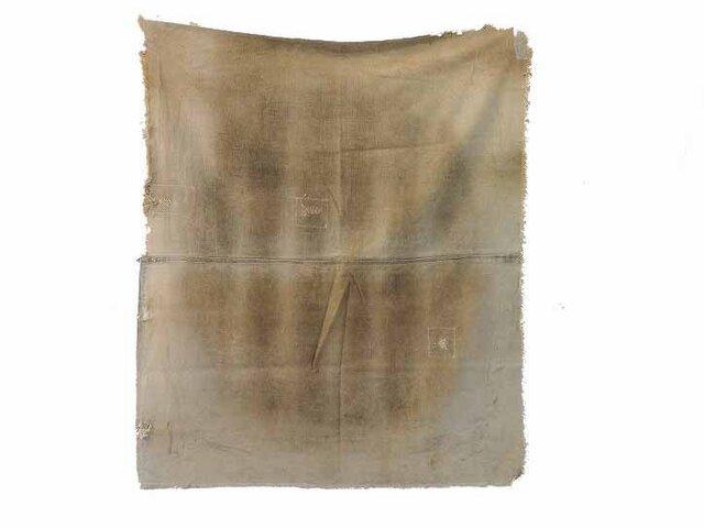 s0023 古布・古裂 あめ色になった酒袋☆しっかりした木綿☆の画像1枚目