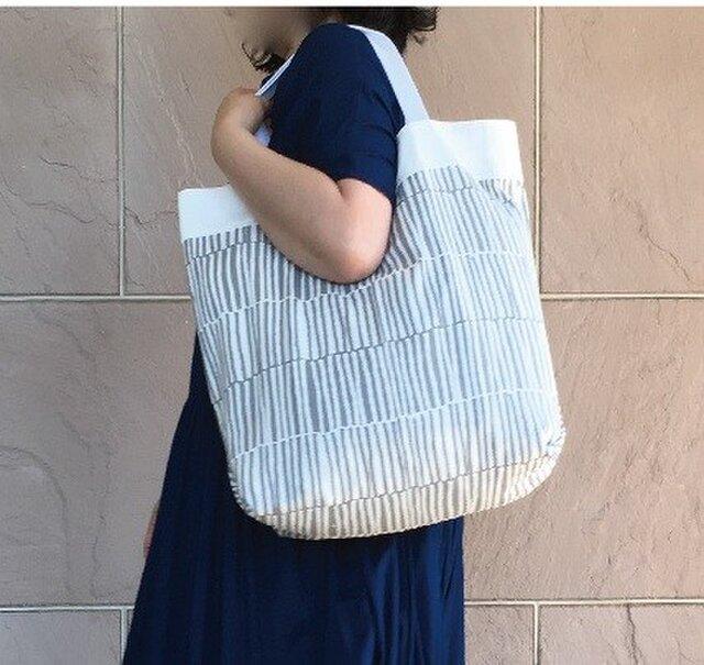 コンパクト おかいのもかばん  グレイラインの画像1枚目