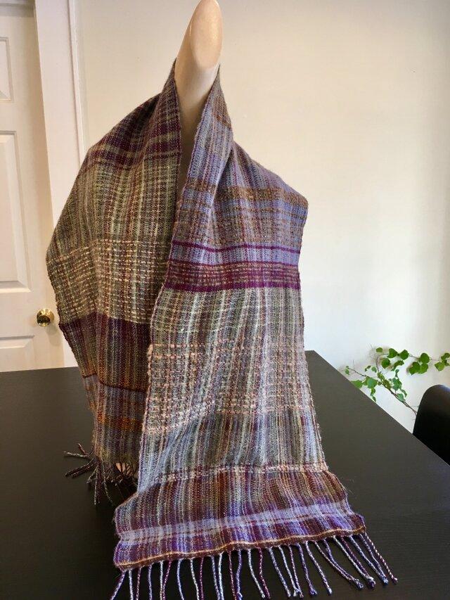 手織りランドスケープ・スカーフの画像1枚目