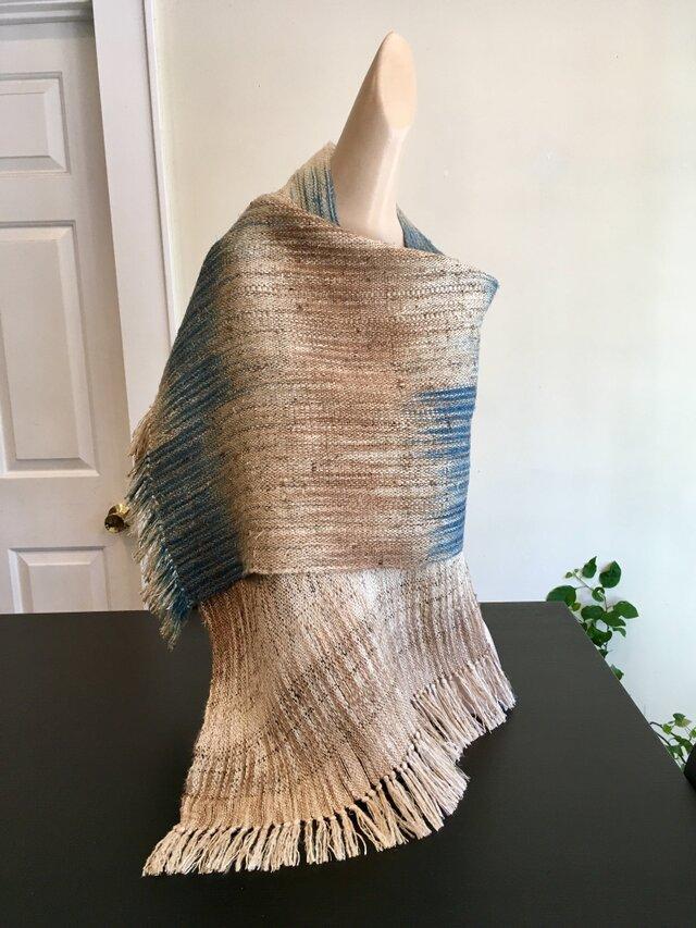 手織り絣・シルクスカーフの画像1枚目