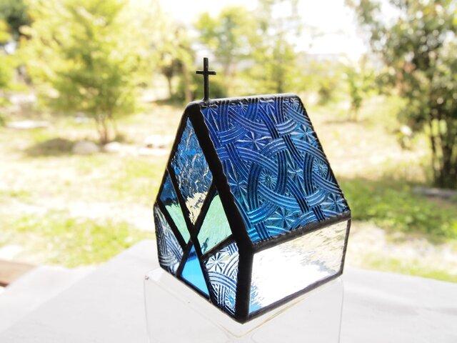 CELTIK Night blue  LED専用キャンドル・ステンドグラスの画像1枚目