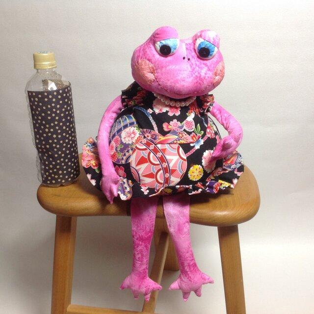 【夏休みセール】かえる娘さん(ピンク)の画像1枚目