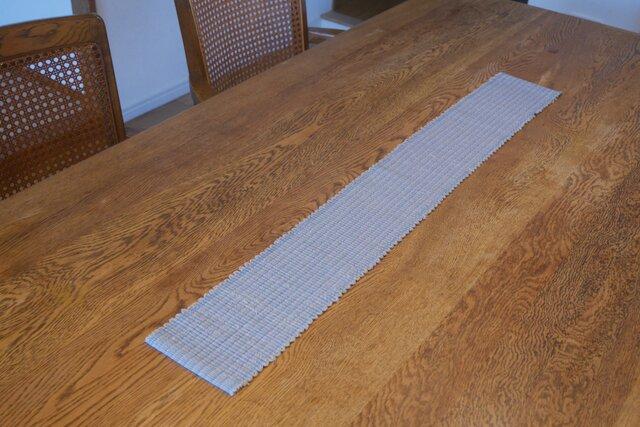 裂織 テーブルランナー 草木染・栗  ☆送料無料【017】の画像1枚目