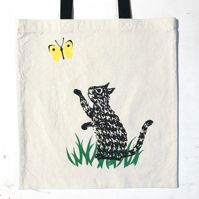 totebag - cat (綿)の画像1枚目