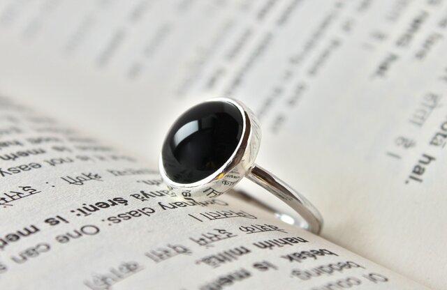 月食ring (ブラックオニキス)の画像1枚目