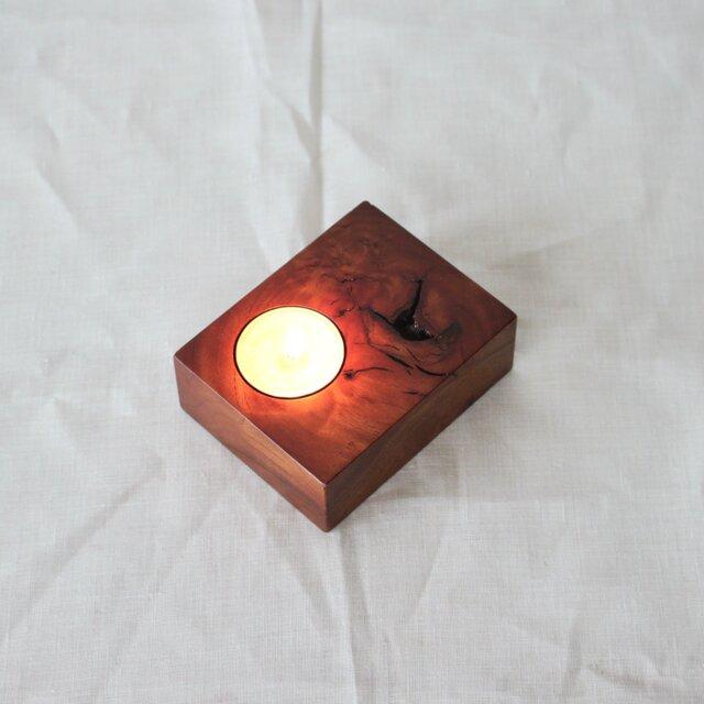 木と漆の燭台 欅 (cbky3)の画像1枚目