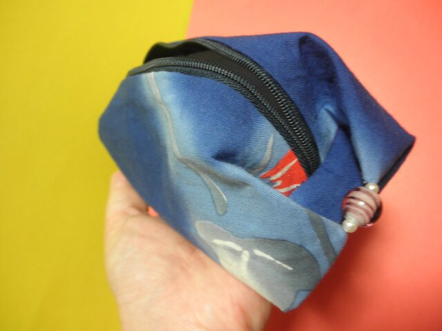 デザインポーチ(藍染レトロ)の画像1枚目