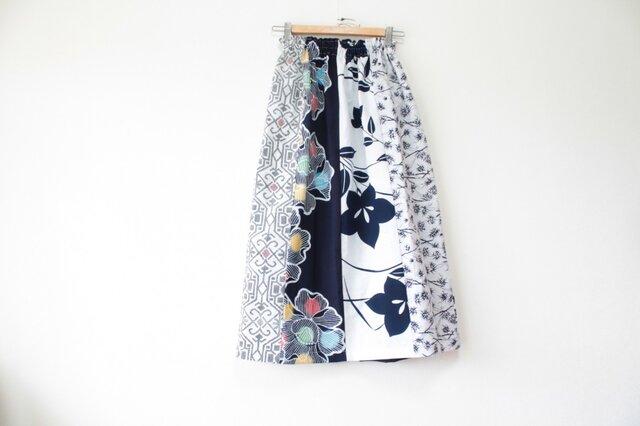 ☆浴衣ロングスカート☆ パッチワーク8枚♪/31ys07の画像1枚目