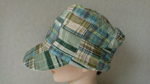魅せる帽子☆あら不思議♪四角いトップが楽しい!!リバーシブルキャスケットの画像1枚目