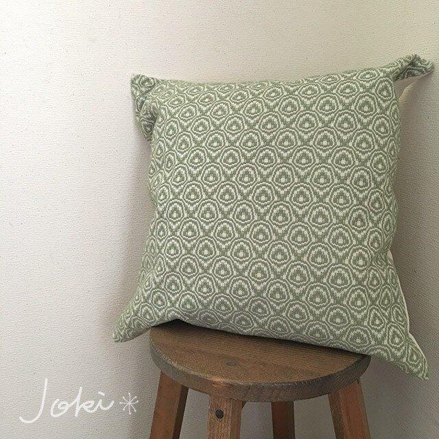 cushion cover[手織りクッションカバー] 若草の画像1枚目
