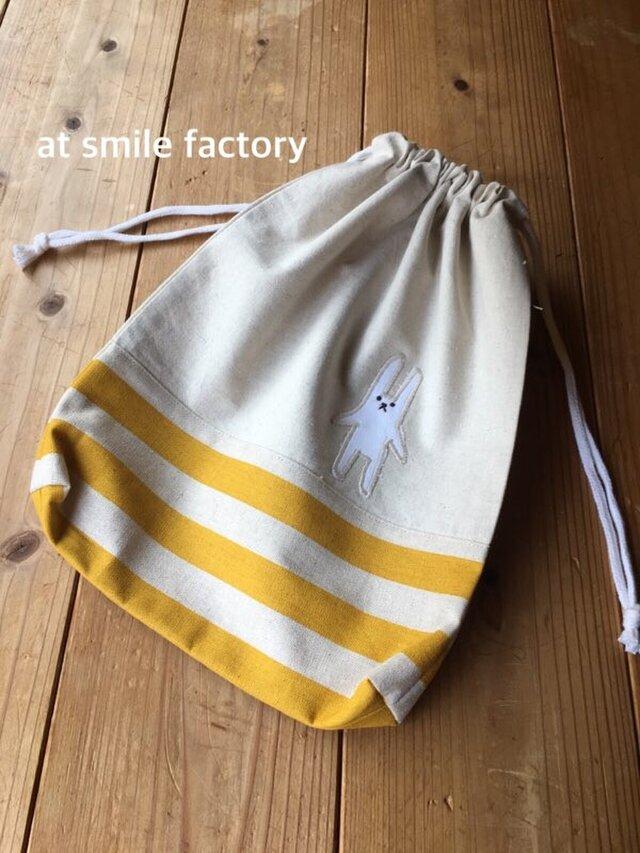 体操服袋黄色※持ち手無しタイプ(定形外送料無料)の画像1枚目