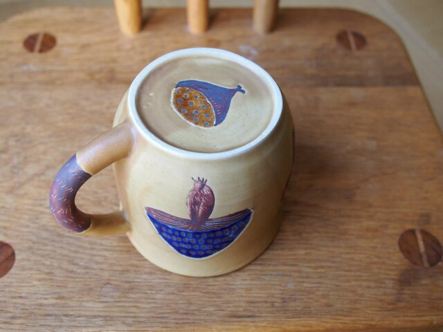 きのこ模様のコーヒーカップ の画像1枚目