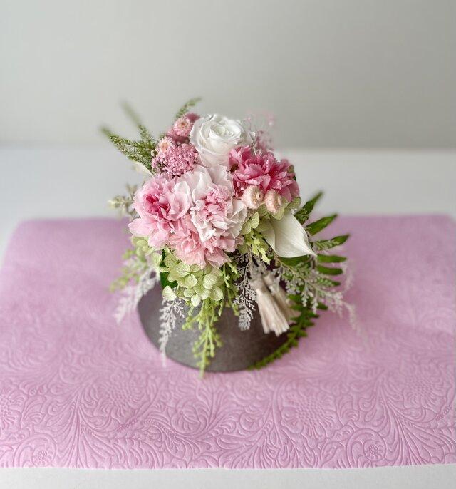 ご結婚お祝いやプレゼントに♡カーネーションの富士山アレンジの画像1枚目