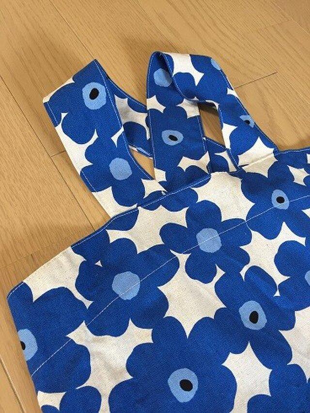 マリメッコ風 子ども用 バッククロスエプロン&三角巾セット 120~130サイズ位の画像1枚目