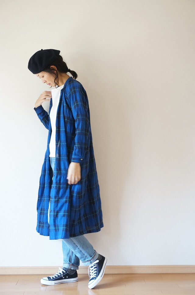 Wool linen cotton one piece LADY'Sの画像1枚目