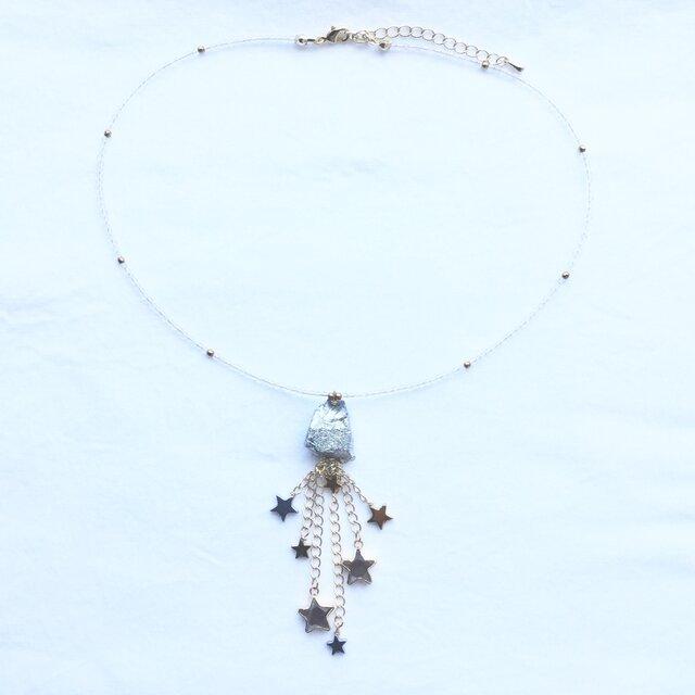 """""""ほうき星"""" 〜 一点物! 天然石ネックレスの画像1枚目"""