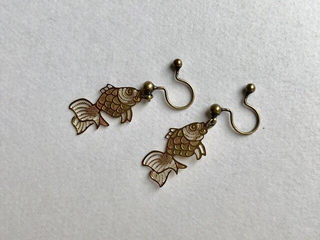 ノンホールピアス No.913金魚の画像1枚目
