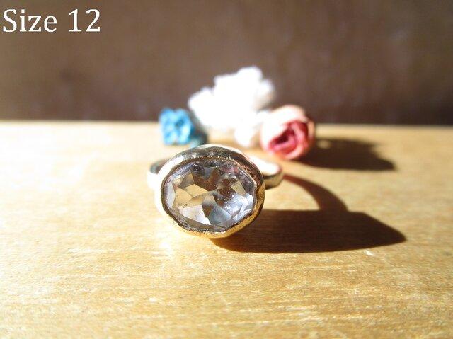真鍮 水晶 リングの画像1枚目
