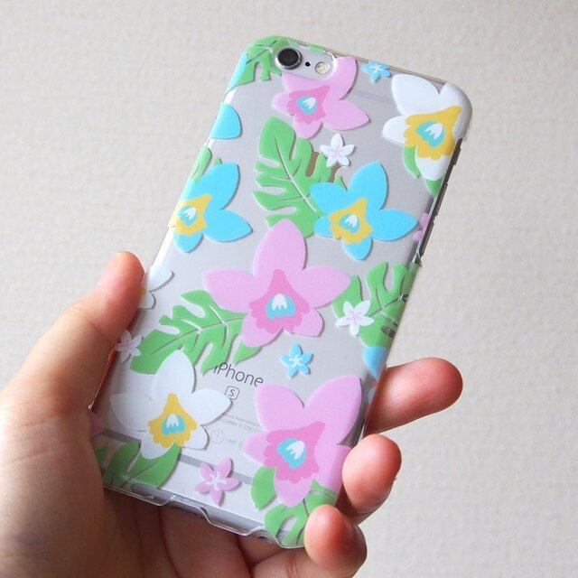 ソフトiPhonePlusケース【夏の蘭】の画像1枚目
