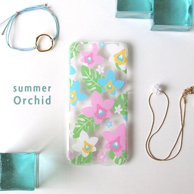 iPhonePlusハードケース【夏の蘭】の画像1枚目