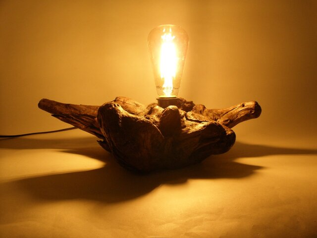 流木 ランプ B  (レトロ調LEDランプ)の画像1枚目