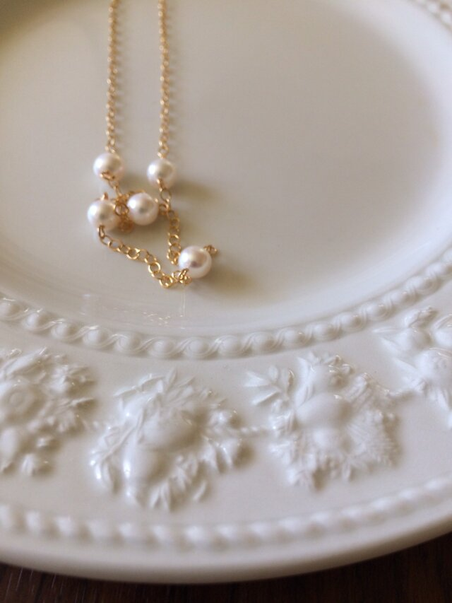 14kgf fresh water pearl necklaceの画像1枚目
