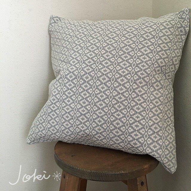 cushion cover[手織りクッションカバー] グレーの画像1枚目
