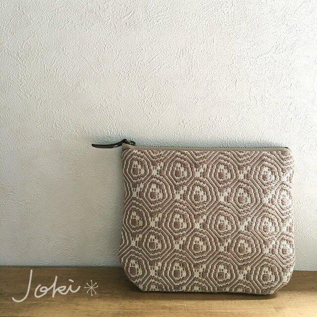 pouch[手織り小さめポーチ]ベージュの画像1枚目