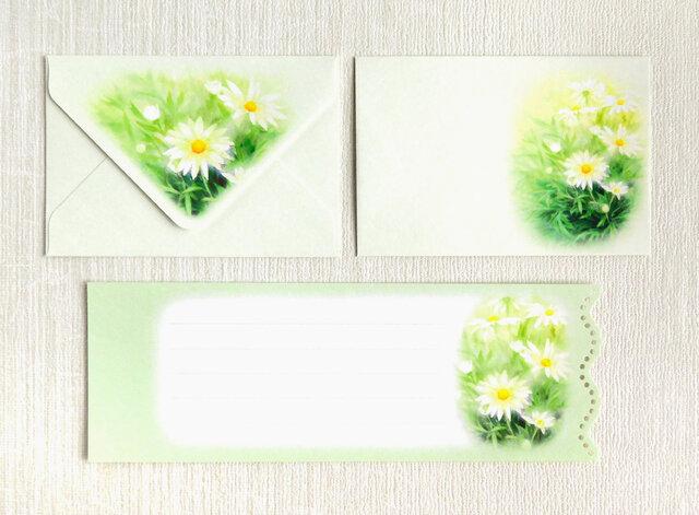 マーガレットのミニ封筒&メッセージカード(外模様)の画像1枚目