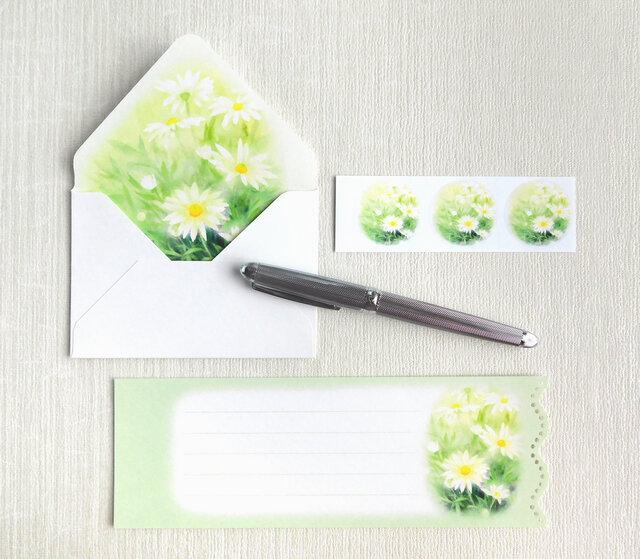 マーガレットのミニ封筒&メッセージカード(内模様)の画像1枚目