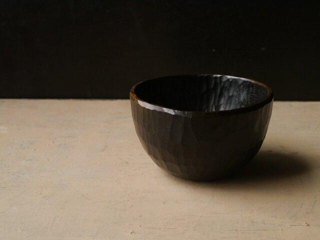 椀120黒拭き漆 #0175_3の画像1枚目