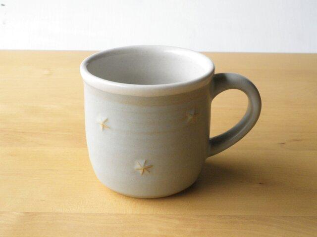 星模様のマグカップ*薄グレーの画像1枚目