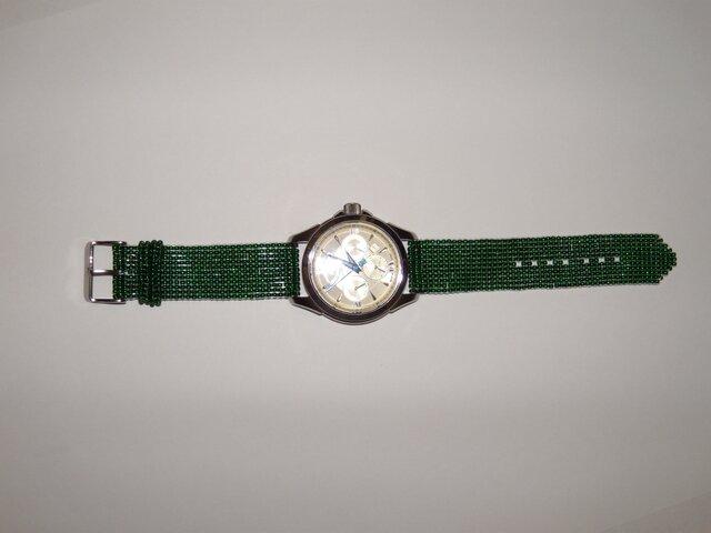 亀麿様オーダー作品  気分が変わる!? ビビッドカラーの時計ベルトの画像1枚目