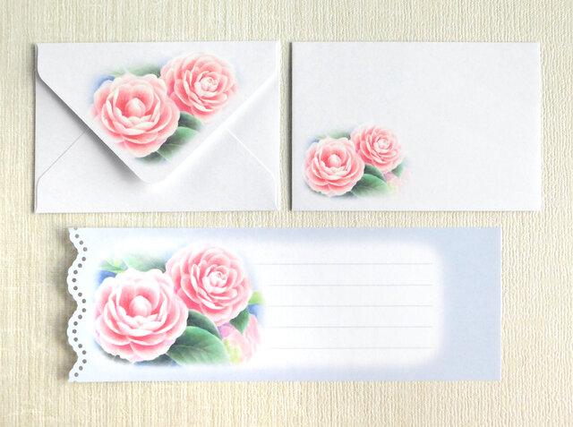 乙女椿のミニ封筒&メッセージカード(外模様)の画像1枚目