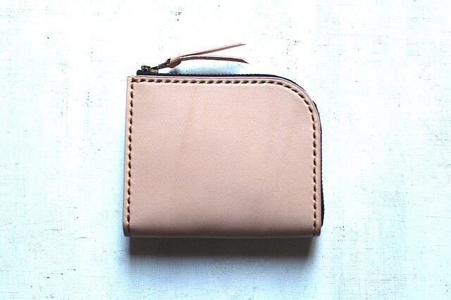 【受注生産品】L字ファスナー小さい財布 ~栃木ヌメ~の画像1枚目
