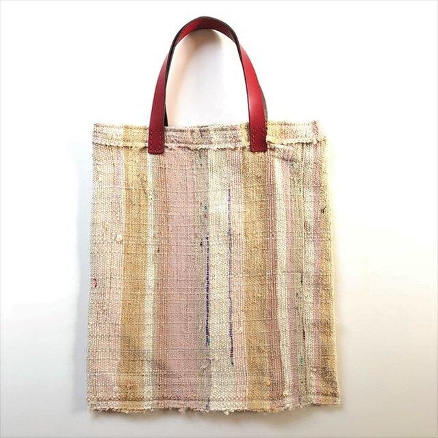 ◆裂き織りトートバッグ◆s18-38の画像1枚目
