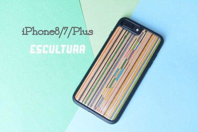 iPhoneケース アイフォンケース スケートボード 木製 木目 高品質 木製ケース iPhone8/7/Plusの画像1枚目