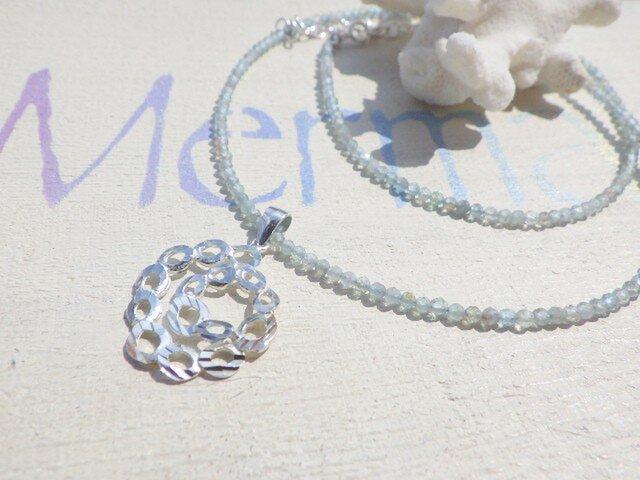 Swirl Wave Seaside Necklace sv925 アパタイトの画像1枚目