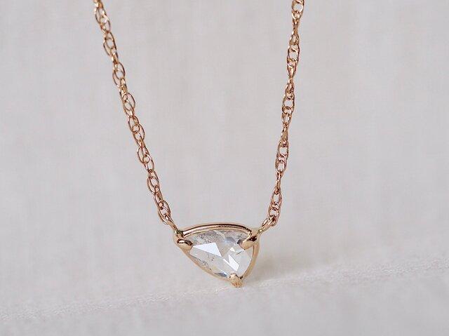 Reflection Drop Diamond Necklaceの画像1枚目