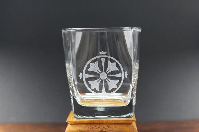 ロックグラス 四つ花久留子紋の画像1枚目