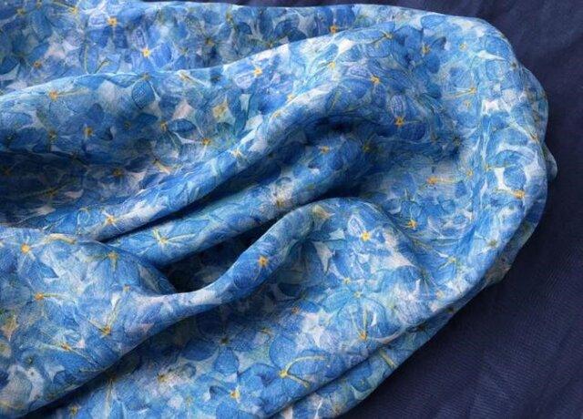 【受注製作】大人・手作亜麻・刺繍・ロング・天然麻生地 ワンピース Z0001の画像1枚目