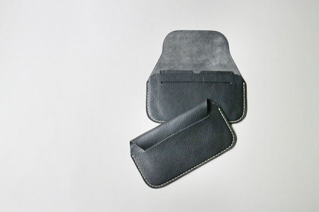 手縫い長財布 BLACK(牛革)の画像1枚目