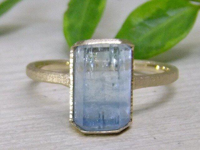 サンタマリア原石*K14lunapinkgold ringの画像1枚目