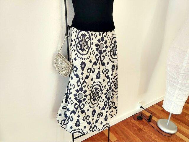 ★一品物★60~80cm ★ドイツ買付★ジャガード織★巻きスカート風★の画像1枚目