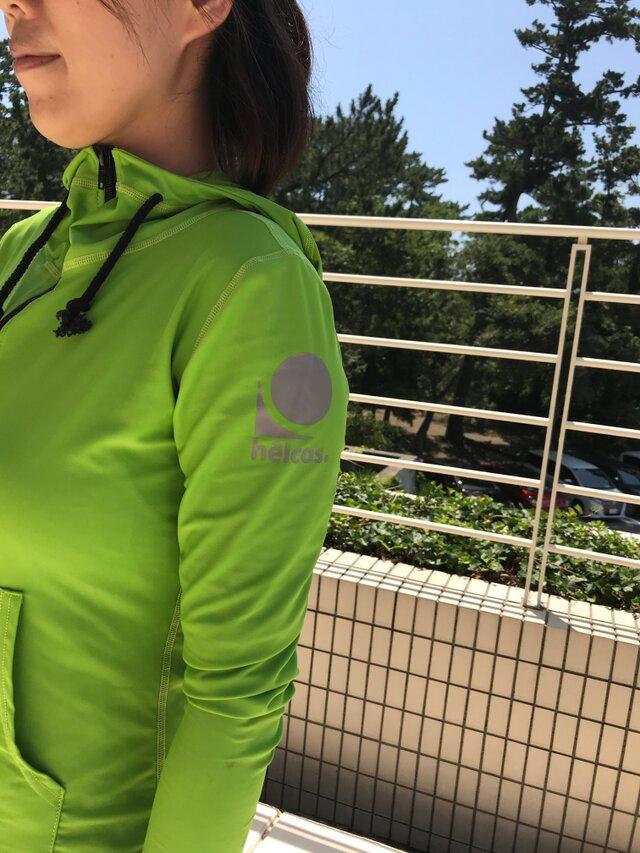 癒本舗 ヒルコス 本当に 紫外線 を考えた ラッシュガード [Lサイズ ライト グリーン 黄 緑] 作家さんの肌を守りたい!の画像1枚目